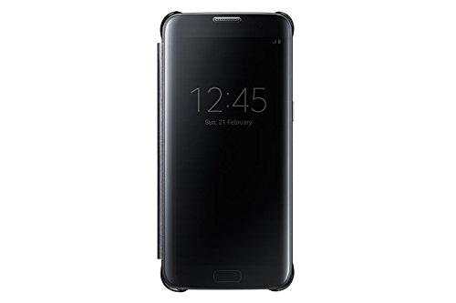 SAMSUNG Clear View Cover 5.5' Funda Cartera Negro - Fundas para teléfonos móviles (Funda Cartera, Galaxy S7 Edge, 14 cm (5.5'), Negro)