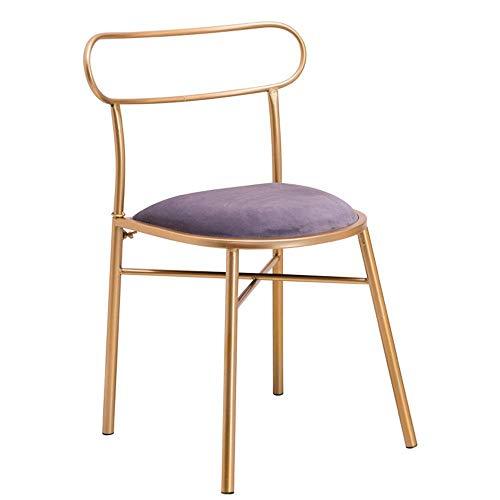 YO-TOKU Dineren Chair Velvet Accent Beklede stoelen Metal For Living Room Eetkamer Kitchen Patio Keukenstoelen (kleur, grootte: 42x42x77cm) Stoelen Living Room Furniture
