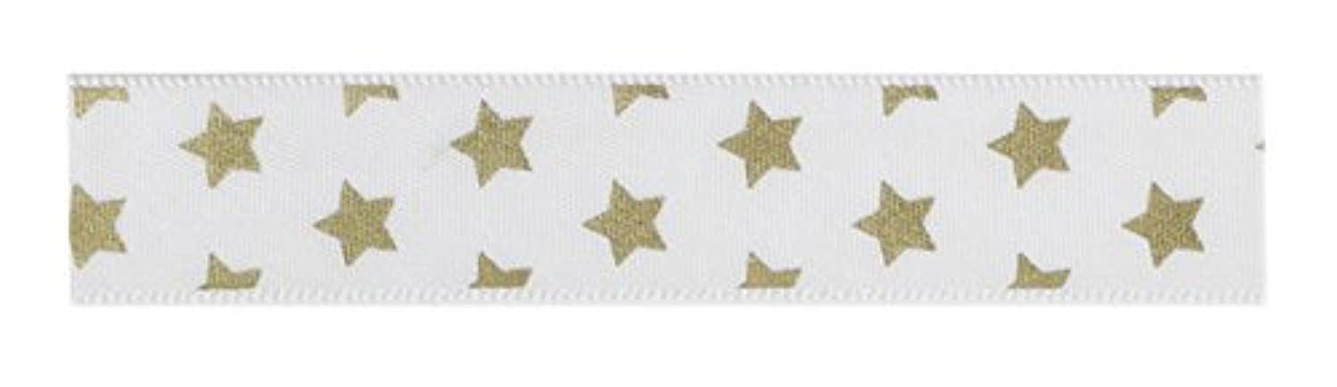 American Crafts Fabric Tape 5/8 Inch Gold Star 3 Yards