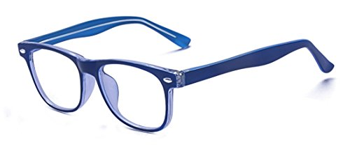 ALWAYSUV Blaulichtschutzbrille für Kinder und Jugendliche, Anti-Augenbelastung, UV-Computer, Brillengläser (Blau)