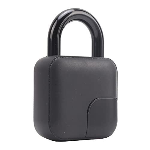 Candado sin llave, admite desbloqueo de huellas dactilares y Bluetooth Admite el almacenamiento de 10 huellas dactilares Bloqueo de huellas dactilares para la seguridad de las puertas