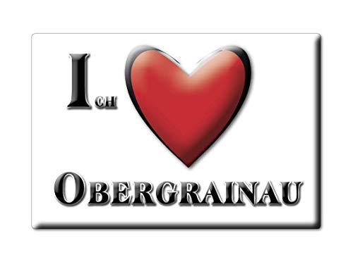 Enjoymagnets OBERGRAINAU (by) Souvenir Deutschland Bayern Fridge Magnet KÜHLSCHRANK Magnet ICH Liebe I Love