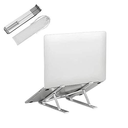 TRUBUY Laptop Ständer, Faltbar Tablet Halterung Stand Halter Ergonomisch Notebook Ständer Einstellbar Laptop Riser für MacBook Pro Air, 11-17 Zoll Notebook Tablet iPad