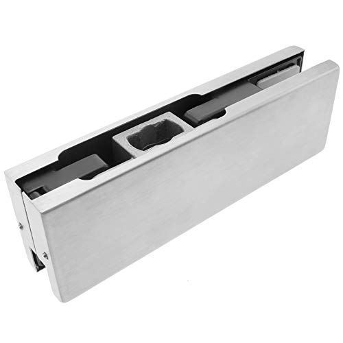 PrimeMatik LK080-VCES Pernio y bisagra Inferior de Aluminio para Puerta de Cristal...
