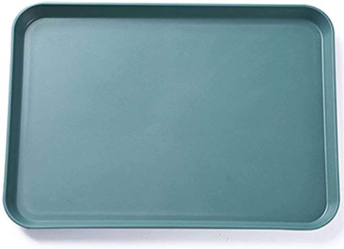 Assiettes Plates Assiettes de Table Plaque en Plastique, Plateau Assiettes Nordic Rectangle Dîner léger Plat Plateau de Fruits de chambe Salle à Manger Adultes Enfants Moyen Vert mwsoz