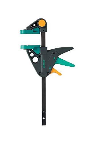 wolfcraft EHZ 65-150 Einhandzwinge PRO 3456000 | Kraftvolle Zwinge für professionelle Arbeiten zum Spannen von Werkstücken mit nur einer Hand | Spannkraft: 90 kg - Spannweite: 150 mm
