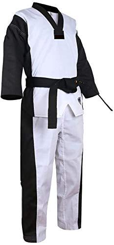 Studente Taekwondo Per Bambini Adulti Dobok Senza Strisce Arti Marziali WTF Uniforme Per Bambini,Corea Taekwondo BS4.5 Uniforme Di Colore 3 Colori (Ne