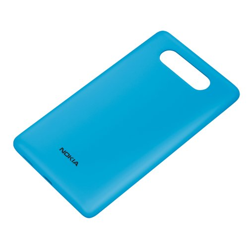 Nokia Custodia Rigida con Ricarica Wireless per Modello Lumia 820, Azzurro