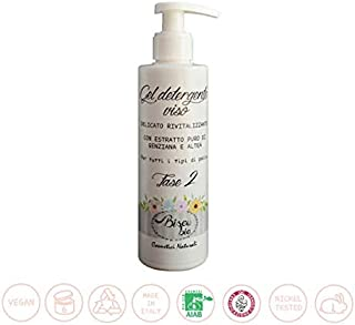 BISOU BIO - Gentian and Altea Facial Cleansing Gel - For all skin types - Removes Makeup and Impurities - AIAB and QC Certified - 200 ml