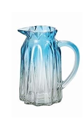 Ekirlin Glass Mug Shape Flower Vase,Blue Vases for Tabletop Plant Glass Vases for Weddings, Events,Decoration,Arrangements,Office Desktop,or Home,Bookshelf (Blue)