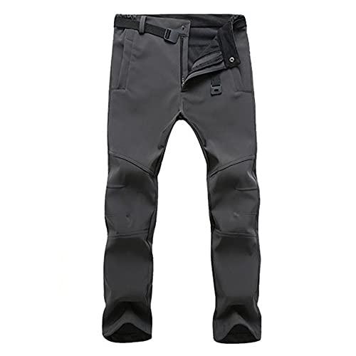 N\P Pantalones Casuales Impermeables Hombres de Invierno Fleece Tiburón Pantalones Largos