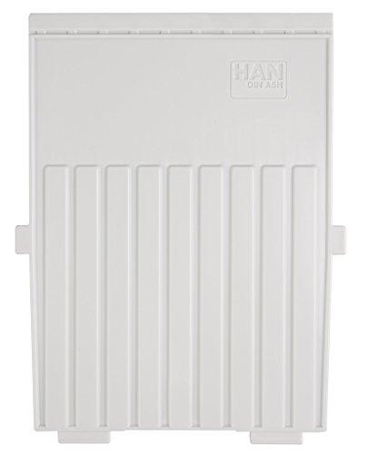 HAN 9025-1-11, Stützplatte DIN A5 hoch, für HAN Karteitröge, 5er Packung, lichtgrau