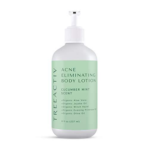 TreeActiv Acne Eliminating Body Lotion 8 fl oz (237 ml), Cucumber Mint Scent, For Body, Back, Butt and Shoulder Acne, Anti-Acne Moisturizer, Tea Tree Oil, Jojoba Oil, Cystic Acne & Body Acne Treatment