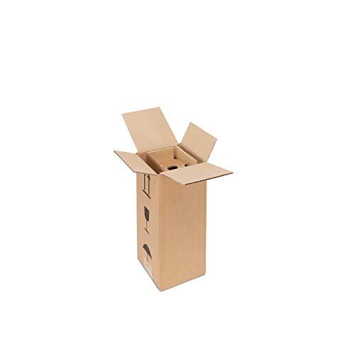 ratioform - Scatola di cartone per la spedizione e imballaggio di bottiglia spumante - MISURE 15,5 x 15,5 x 32,4 cm