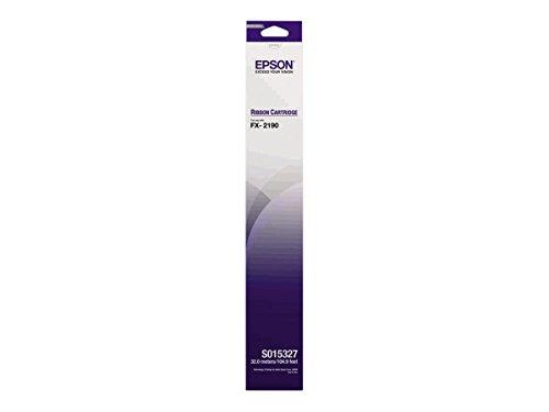 Epson Cartucho Negro SIDM para FX-2190 (C13S015327) - Cinta de impresoras matriciales (FX-2190, Negro, Matriz de Punto, 9 Pines, 12000000 Caracteres, 120 g)