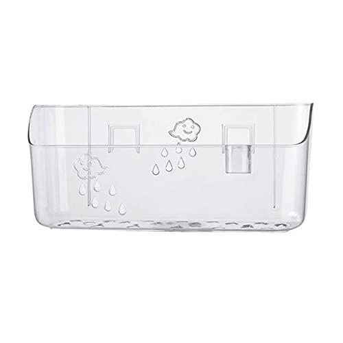 GDSMTG Estante de Ducha de baño, Ducha Estante Caddy Mueble de plástico de Pared Organizador de Almacenamiento De múltiples Fines (Color : Clear)