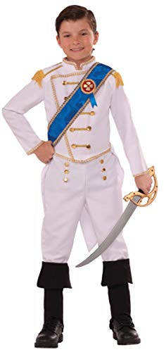Forum Novelties Kids Happily Ever After Prince Costume, White, Large