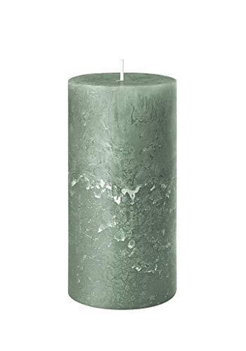 safe candle Rustic Kerze selbstverlöschend, Höhe 11 cm/Ø 6 cm, 38 Std. Brenndauer (Smaragd)