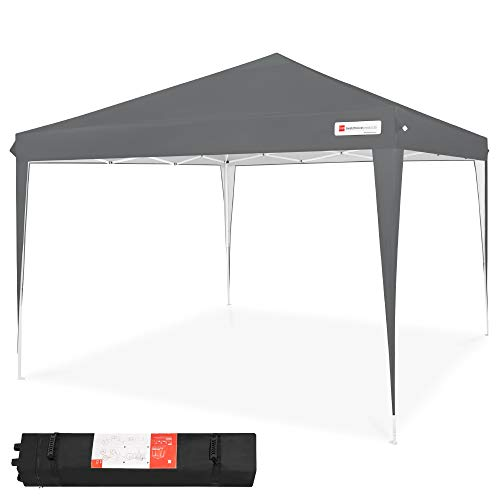 Best Choice Products 10x10ft Outdoor Portable Lightweight Folding Instant Pop Up Gazebo Canopy Shade Tent w Adjustable Height, Wind Vent, Carrying Bag - Dark Gray