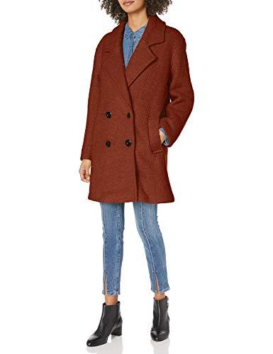 Steve Madden Damen Wool Fashion Coat Wollmantel, Cognac, X-Groß