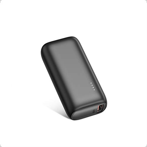 BABAKA Mini Powerbank PD 18W 5000mAh Kompakter USB C Externer Akku Power Bank mit Power Delivery Schnellladefunktion Klein und Leistungsstark für iPhone Samsung Huawei iPad - Schwarz