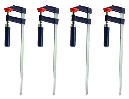 Schraubzwingen Set viele Größen Klemmzwingen Leimzwingen Spannmittel (4 Stk. 600x120mm)