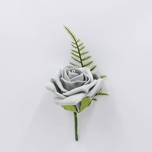 Fiori artificiali matrimonio mano-realizzato da petali Polly, rosa di schiuma asola in grigio
