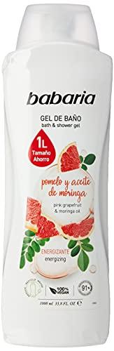 Babaria Pomelo & Aceite DE Moringa Gel DE BAÑO 1000ML, 1L Pomelo/AC.Morin...