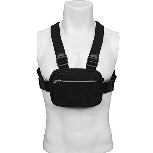 WYJW Outdoor Chest Front Rig Bag - Leichte Sporttaschen aus Nylon - Kopfhörerloch-Design, Verstellbarer Gurt - für Freizeitläufer, Wanderer, Männer und Frauen