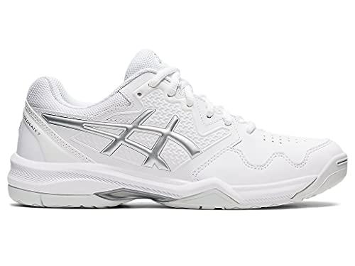 ASICS Women's Gel-Dedicate 7 Tennis Shoes, 9.5, White/Pure Silver