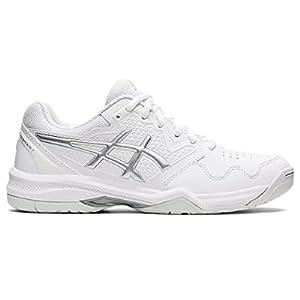 ASICS Women's Gel-Dedicate 7 Tennis Shoes, 6, White/Pure Silver