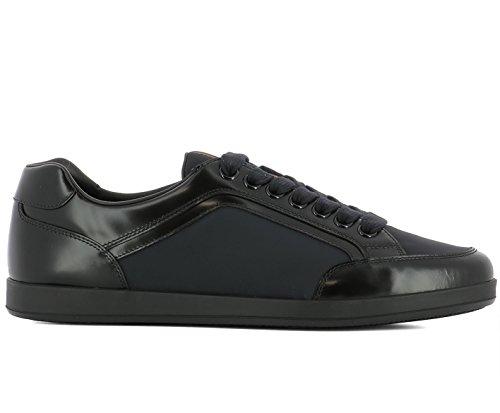 Prada Sneaker Scarpe Lace Up da Uomo Nylon Spazzolato 4e3090 Blu