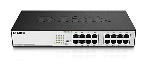 D-Link DGS-1016D Switch 16 Porte Gigabit, Nero