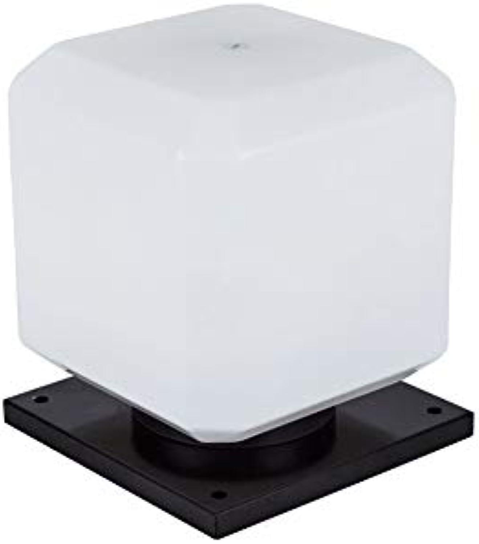 Wapipey E27 auerhalb des Acrylquadrat-Aluminiumfassaden-Spalten-Licht-Ausgangsterrassen-Freiluftpatio-Beleuchtungs-IP54 im Freien wasserdichte und regensichere Sulen-Lampe (Gre   S-25cm)