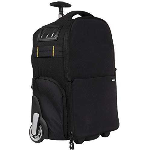 Deco Gear 3-in-1 Travel Camera Case - Waterproof and Shockproof Rolling Camera Backpack - Three Methods of Transport - Wheeled Trolley, Backpack, Carry On Bag