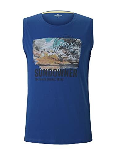 Tom Tailor 1026059 Basic Camiseta sin Mangas, Victory Blue 20587-Juego de Mesa [Importado de Alemania], S para Hombre