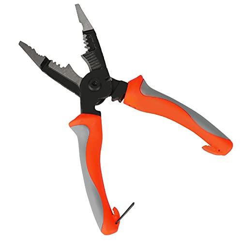 Alicates de electricista 6 en 1 multifunción, alicates pelacables, crimpadora y cortacables, alicates de corte lateral de alto rendimiento de 8 pulgadas