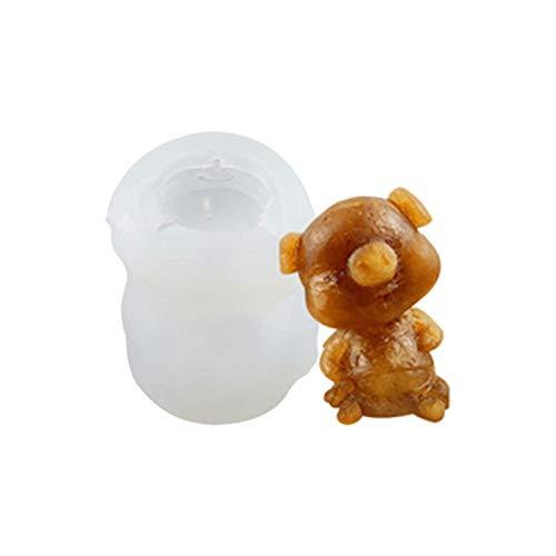 Ruilonghai 3D Teddybär Silikonform - 3D Bär Fondantform - Silikon Tier Eiswürfelform - DIY Seifenform Kerzenform für Eiswürfel, Schokolade, Gummi, Kuchen Cupcake Topper Dekor Backen - Zufällige Farbe