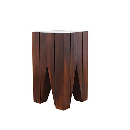 NNHDWS Stump Side Table Round Solid Wood Coffee End Table, Tree Stump Accent Natural Edge Side Table Nightstand,Sofa Side Table,Room Bedroom Balcony, Corner Table,M