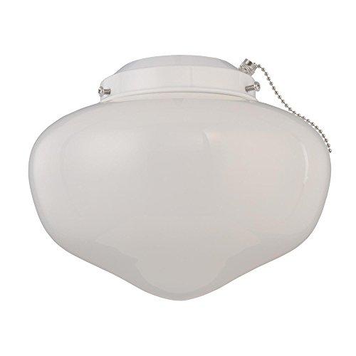Westinghouse Lighting 778531lgt Wht escuela Kit de ventilador y escuela de techo blanco satinado