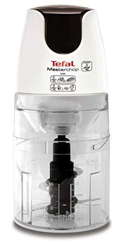 Tefal MB450B Elektrischer Lebensmittelzerkleinerer 0,5 l transparent weiß 500 W – elektrischer Zerkleinerer für Lebensmittel, 0,5 l, transparent, weiß, Kunststoff, 500 W, 1,04 kg, 126 mm