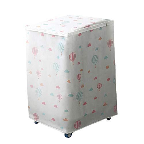 WOTEG Cubierta para lavadora, protector solar impermeable, antisalpicaduras, protección frontal para lavandería, a prueba de polvo y antienvejecimiento
