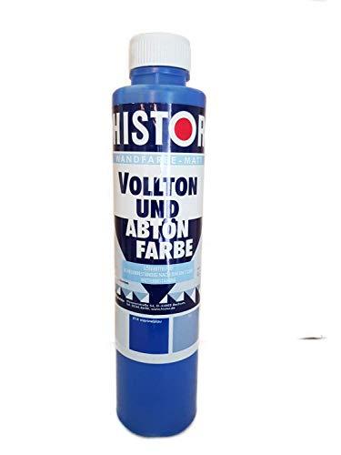 2x0,75 l Histor Vollton und Abtön Farbe Wandfarbe Matt 1,5 Liter Farbwahl, Farbe (RAL):414 marineblau