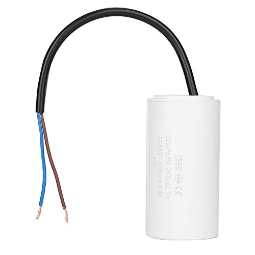 Motor Run Capacitor,CBB60 Run Capacitor with Wire Lead 250V AC 120uF 50/60Hz for Motor Air Compressor, Capacitor for AC