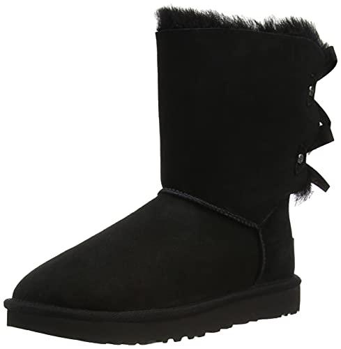 UGG Women's Bailey Bow Evergreen Fashion Boot, Black, 40 EU