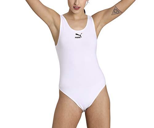 PUMA Classics Sleeveless Body Bodysuit, Mujer, White, S