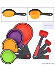 Premium Pick for Best Collapsible Measuring Cups: Kitch N Gadgetz Set of 4 Collapsible Silicone Measuring Cups