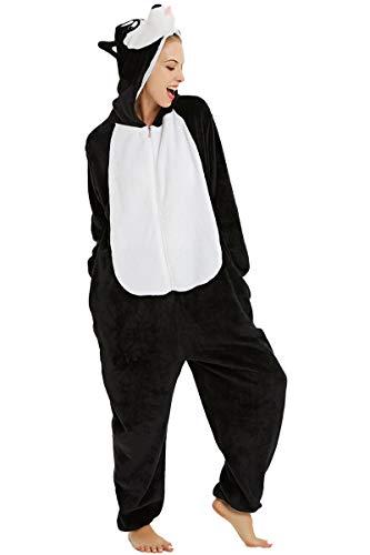 Unisex Erwachsene Onesie Kostüm Einhorn,Schlafanzug,Hausanzug,Jogginganzug Jumpsuits Erwachsene Pyjama Overalls Nachtwäsche Schlaflosigkeit Halloween Karneval Cosplay Kostüme M