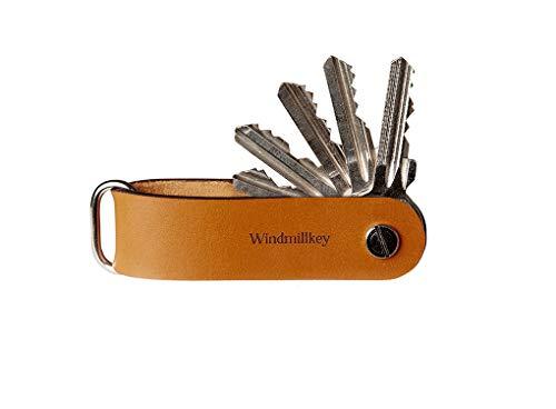 Windmillkey Moxon - Organizador de Llaves de Bolsillo (Piel), Color marrón