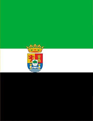 Bandera Extramadura Nacionalista: un diario cuaderno de composición perfecta para escribir en 8.5x11 pulgadas con el regalo cuadernos de 120 páginas ... | bandera andalucia españa (Spanish Edition)